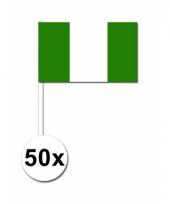 Nigeria zwaai vlaggetjes 50 stuks