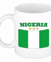 Nigeriaanse vlag koffiebeker 300 ml