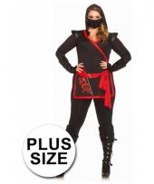 Ninja dames kleding met draak erop