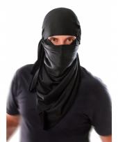 Ninja hoofdsjaal zwart voor volwassenen