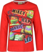 Ninja turtles t-shirt rood