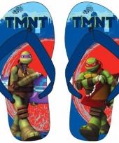 Ninja turtles teenslippers blauw rood voor kinderen