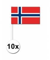 Noorwegen zwaai vlaggetjes 10x