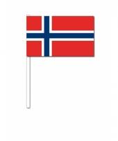 Noorwegen zwaai vlaggetjes 12 x 24 cm