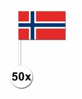 Noorwegen zwaai vlaggetjes 50x