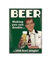 Nostalgisch bord beer feel single