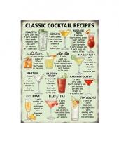 Nostalgisch bord cocktail recipes