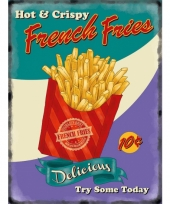 Nostalgisch bord french fries
