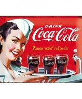 Nostalgisch muurplaatje coca cola 30 x 40 cm