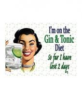 Nostalgische decoratie gin dieet
