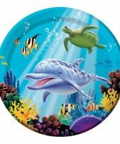 Oceaan thema borden 8 stuks