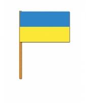 Oekraine versiering zwaaivlag
