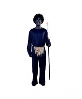 Oertijd zulu kostuum voor heren