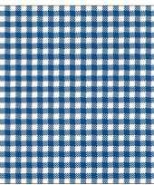Oktoberfest 20x geruite blauw witte servetten 33 x 33 cm