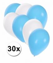 Oktoberfest oktoberfest ballonnen 30 stuks blauw wit