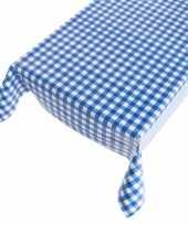 Oktoberfest tafelzeil blauwe ruit 140 x 240 cm