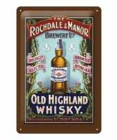 Old highland whisky muurdecoratie whisky 20 x 30 cm