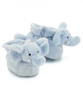 Olifanten baby sloffen blauw
