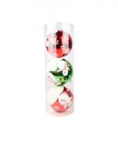 Onbreekbare kerstballen met sneeuwpop 15 cm