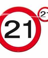 Onderzetters in de vorm van stopborden 21 jaar