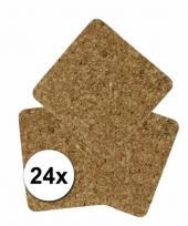 Onderzetters van kurk 24 stuks