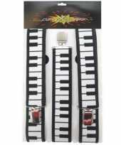 One size bretels met piano motief