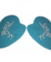 Oog schmink sjablonen vlinder tribal