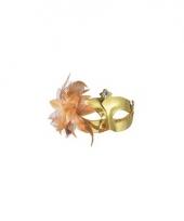 Oogmasker metallic goed met bloem