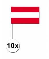 Oostenrijk zwaai vlaggetjes 10 stuks