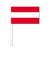 Oostenrijk zwaai vlaggetjes 12 x 24 cm