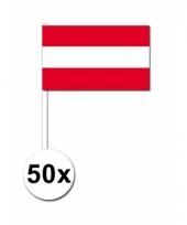 Oostenrijk zwaai vlaggetjes 50 stuks