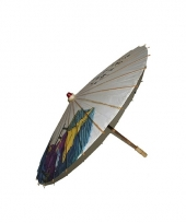 Oosterse paraplu hout met papier