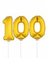 Opblaas cijfer 100 folie ballon 41 cm 10084680