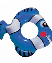 Opblaasband vis blauw 79 cm