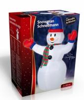 Opblaasbare sneeuwpop 240 cm