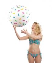 Opblaasbare strandbal met spikkels 46 cm