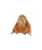 Orang oetan knuffel met kraalogen 30 cm