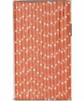 Oranje artikelen rietjes van papier