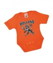 Oranje babypakje met korte mouwen 10047883