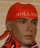 Oranje bandana met holland tekst