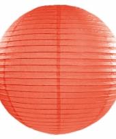 Oranje bol lampion 50 cm