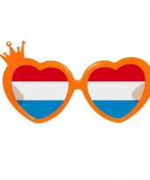 Oranje bril hartjes montuur