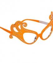 Oranje brillen dame edna