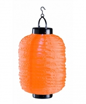 Oranje chinese lampion op zonne energie