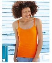 Oranje dames shirtje zonder mouw