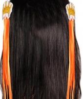 Oranje haarclipjes met oranje haar
