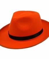Oranje hoed voor volwassenen 10047891