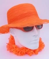 Oranje hoeden organza