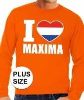 Oranje i love maxima grote maten sweater trui heren