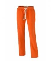 Oranje joggingbroek met steekzakken voor dames